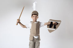 Medieval knight child Royalty Free Stock Photo