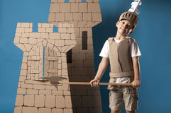 Medieval knight child Royalty Free Stock Images