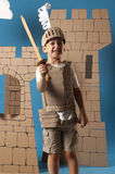 Medieval knight child Stock Images