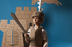 Medieval knight child Royalty Free Stock Photography