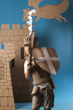 Medieval knight child Stock Photos