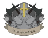 Medieval knight emblem Stock Photo