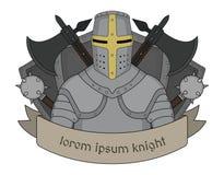 Medieval knight emblem Stock Photo