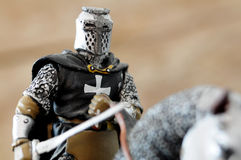 Medieval knight figure Stock Photo