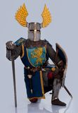 Medieval knight in full armor Stock Image