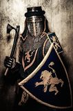 Medieval knight in full armour Royalty Free Stock Photography