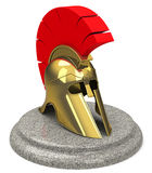 Medieval knight helmet. 3d generated picture of a medieval knight helmet vector illustration