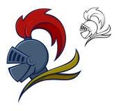 Medieval Knight Helmet. Vector illustration of medieval knight helmet Royalty Free Stock Images