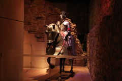 A medieval knight and his horse Royalty Free Stock Photography