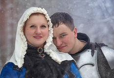 Medieval knight and his lady Stock Photography