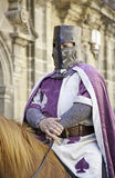Medieval knight on horseback Royalty Free Stock Images