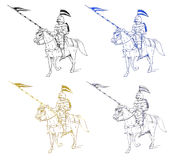 Medieval knight illustration Royalty Free Stock Photo