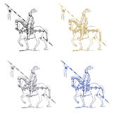 Medieval knight illustration Royalty Free Stock Photos