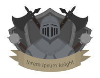 Medieval knight logo. Color Stock Photo