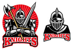 Medieval knight mascot Royalty Free Stock Photos