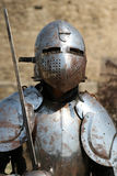 Medieval Knight.Portrait. Royalty Free Stock Photos
