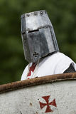Medieval knight with shield Stock Images