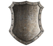 Medieval knight shield isolated Stock Photos