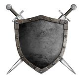 Medieval knight shield and swords as coat of arms Royalty Free Stock Photos