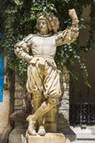 Medieval knight statue royalty free stock photo