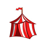 Medieval knight tent icon, cartoon style Royalty Free Stock Photo