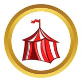 Medieval knight tent vector icon, cartoon style Royalty Free Stock Images