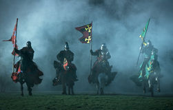 Medieval knights stock photography