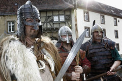 Medieval knights Stock Image