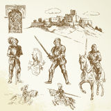 Medieval knights Stock Photo