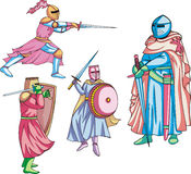 Medieval knights Royalty Free Stock Photo