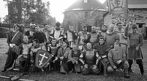 Medieval knights armor Stock Photography