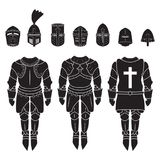 Medieval knights armor vector set. Medieval armor icons set. Vector. Eps10 Stock Images