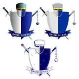 Medieval knights armor and weapons Stock Image
