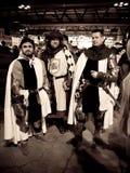 Medieval knights at Cartoomics 2014 Royalty Free Stock Photo