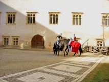 Medieval knights in Fortress Royalty Free Stock Photography