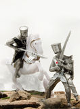 Medieval knights - crusaders Royalty Free Stock Photo
