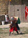 Medieval knights fencing Royalty Free Stock Photo