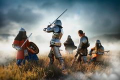 Free Medieval Knights Fight, Great Combat Royalty Free Stock Photo - 160946275