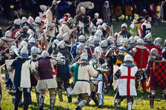 Medieval Knights  Fighting Royalty Free Stock Photos
