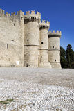 Medieval Knights Grand Master Palace. In old town of Rhodes Greece Stock Photos