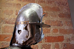 Medieval knights helmet Stock Photography