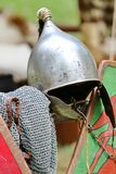 Medieval knights helmet during the period of the middle ages Royalty Free Stock Photo