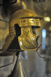 Medieval knights' helmets. In the museum Royalty Free Stock Photo