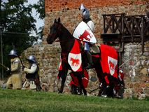 Medieval knights Royalty Free Stock Image