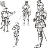 Medieval knights Stock Images