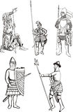 Medieval knights Royalty Free Stock Images