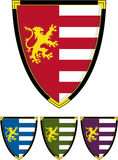 Medieval Knights Shield. Vector Illustration of a Medieval Knights Shield with Lion Insignia Royalty Free Stock Photos