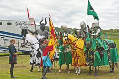 Medieval Knights at Tain Gala Royalty Free Stock Photography