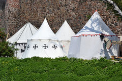 Medieval knights Tents Stock Images