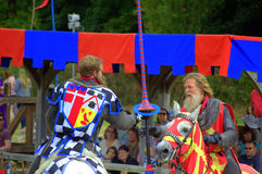 Medieval knights tourney Royalty Free Stock Images